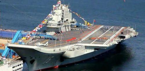 中国16号航母即将服役,昨日和今日进行了站坡仪式