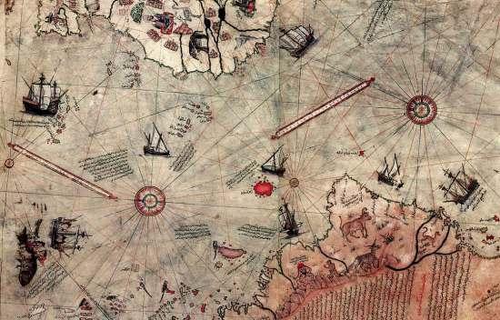 至少6000年前南极洲拥有文明迹象的地图
