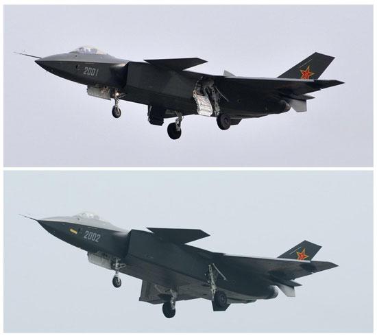 J20-2001和2002图片对比