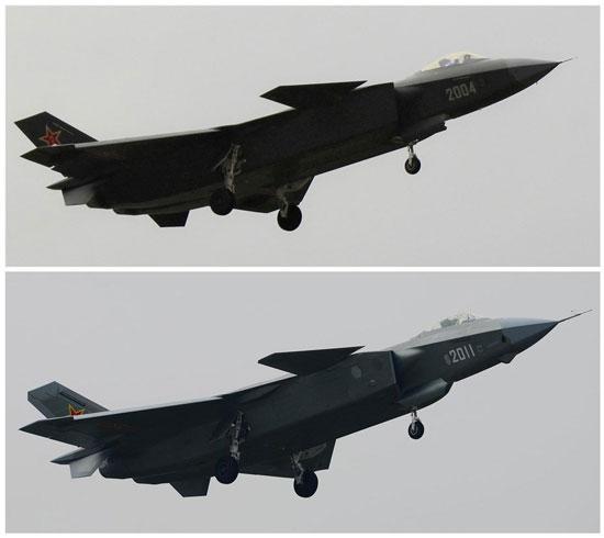 J20-2004和2011图片对比