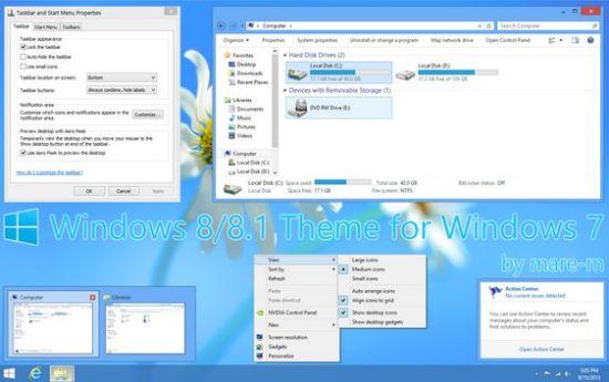 Windows 7 高仿 Windows 8 主题,让Win7变Win8