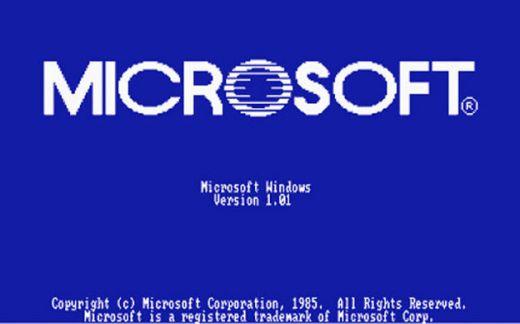 Windows 1.01启动画面