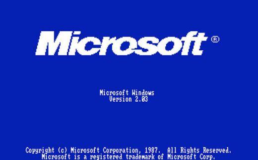 Windows 2.03启动画面