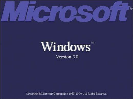 Windows 3.0启动画面