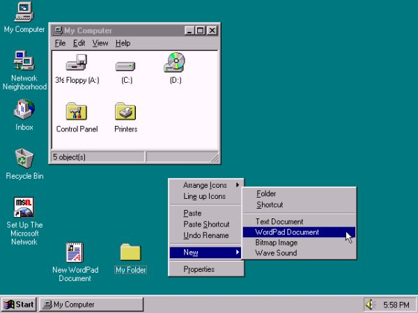 Windows 95桌面