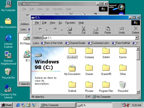 Windows 98桌面