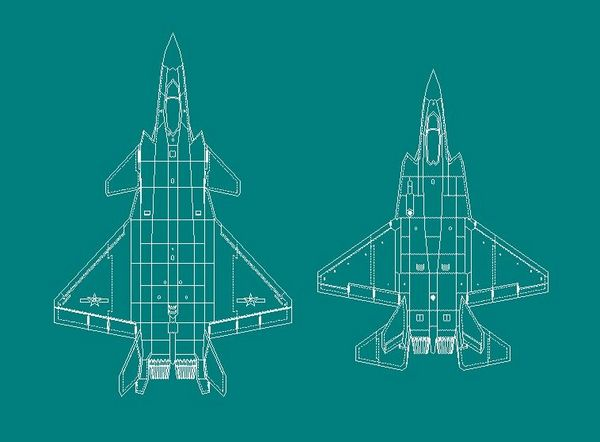 J31与J20大小和外观对比线图