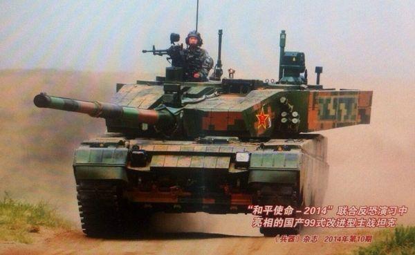 和平使命-2014联合反恐演习中的99A坦克