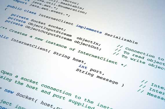 目前主流编程语言使用英文